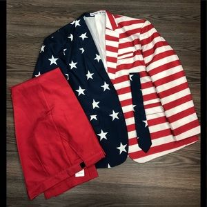 Other - Red, White & Blue American Flag Suit XXL 50-52